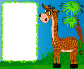 frame nursery nice giraffe