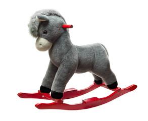 Plush rocking toy donkey