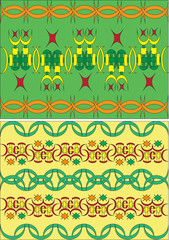 Set of the Arabian ornaments, east culture