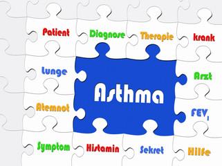 Asthma - Konzept Erkrankung und Medizin
