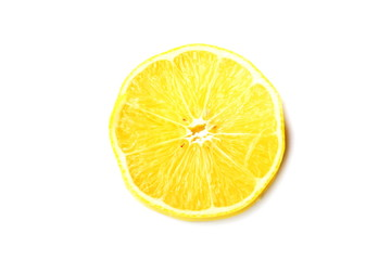The cutted lemon
