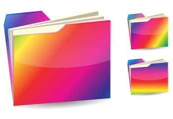 rainbow folder