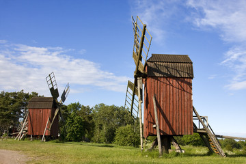 windmühlen in schweden auf öland
