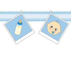 Tarjeta nacimiento bebé niño