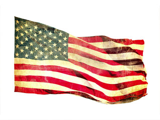 Grunge image of american flag
