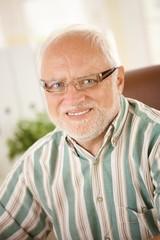 Portrait of senior man in glasses