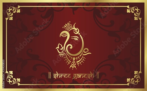 Hindu Wedding Card Background Design