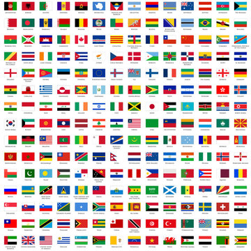 alphabetically sorted flags of the world