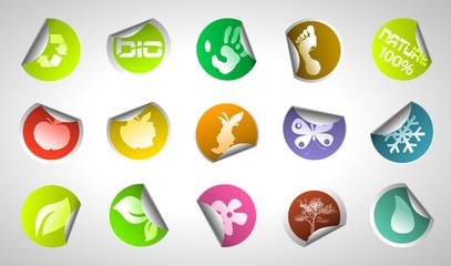 environmental circle stickers