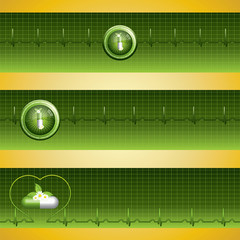 Green alternative medication concept banner