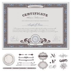 certificate or coupon (actual download without sample text)