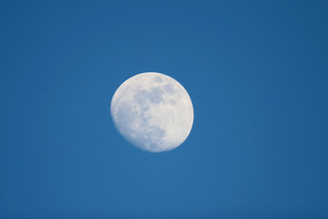 Moon with blue background