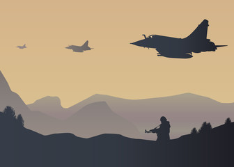 Avion de chasse Guerre