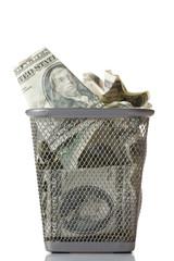 Money in basket