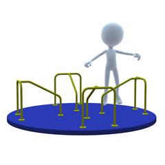 3D Guy Merry Go Round