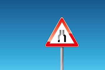 Verkehrszeichen 22 Verengte Fahrbahn
