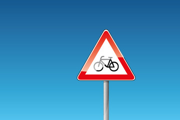 Verkehrszeichen 138-10 Radfahrer Fahrrad
