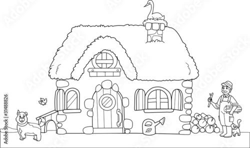 Vecchia fattoria da colorare per bambini immagini e for Disegno della fattoria americana