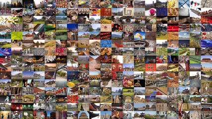 Mur d'images de Chine
