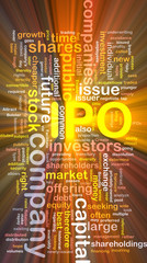Company IPO is bone background concept glowing