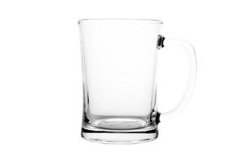 Single empty beer glass