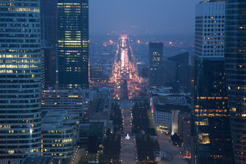 view of La Defense business quarter, Grand Armagh avenue