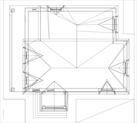 Drawing of roof