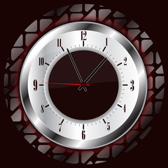 clock with background