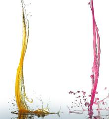 orange and rose juice stream