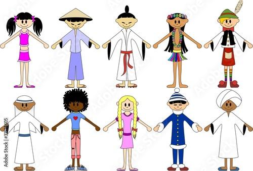 Bambini del mondo children of the world vector immagini for Immagini del mondo per bambini