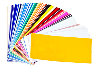 Color samples swatchbook isolated on a white background