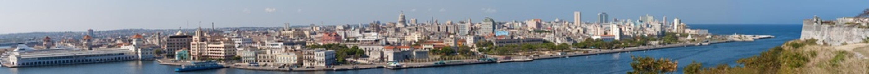 Highly detailed panoramic view of Havana