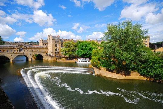 Water fall bridge in Bath
