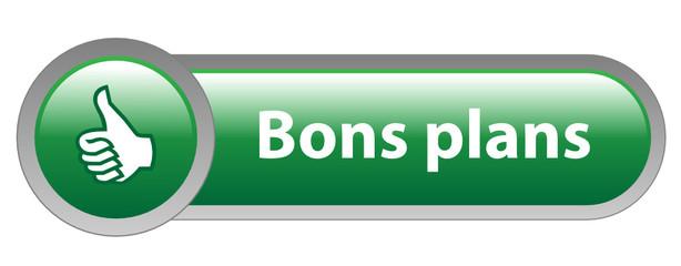 Bouton Web BONS PLANS (prix bonnes affaires soldes offres idées)