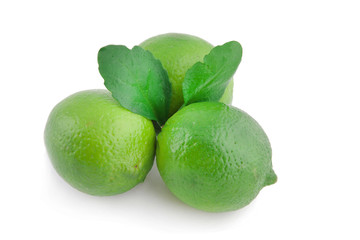 Three limes with leaves