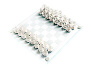 Glass chess.