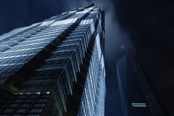 skyscraper on the night sky