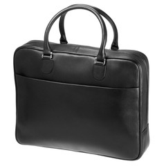 black leather bag isolated on white
