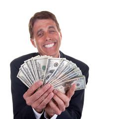 Happy Greedy Business Man