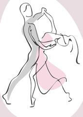 man and woman dancing. Similar to portfolio