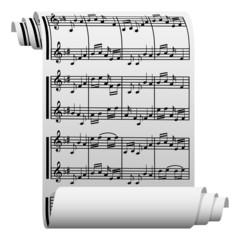 Music written on paper