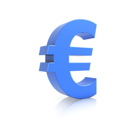 3d Blue symbol for Euro