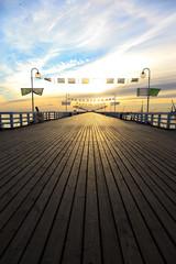 Papiers peints Jetee Sunrise at the pier in Sopot, Poland.