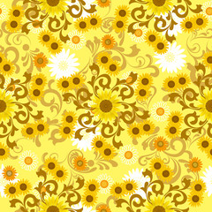 Abstract sunflower pattern