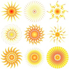 Sole Astratto-Abstract Sun-Soleil Abstrait-Sol-Vector