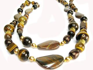 jewellery semiprecious brown beads