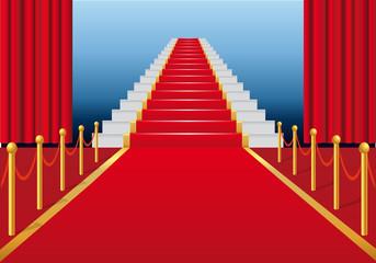 Tapis Rouge Escalier