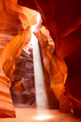 Foto op Canvas Antilope Sunbeam in Upper Antelope Canyon, Arizona, USA
