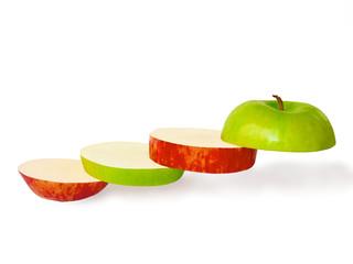 Лестница из долек яблока