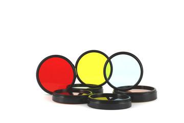 Filter for lenses on white background